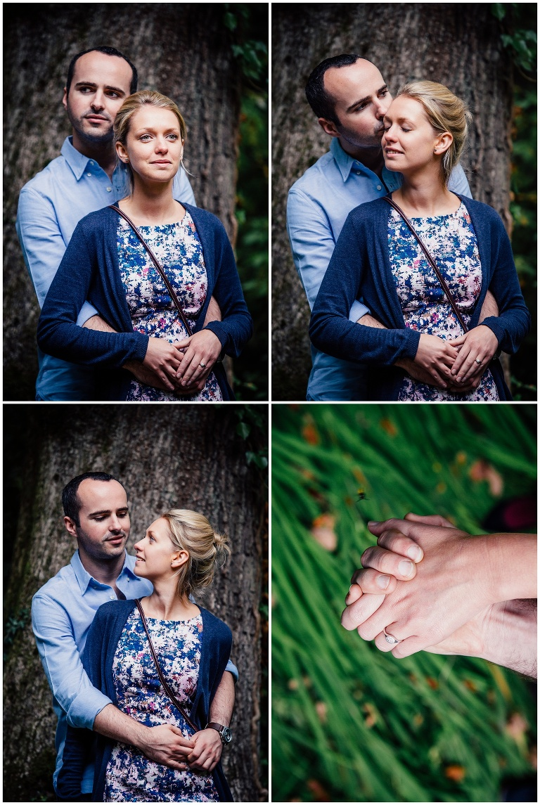 Ewa and Ryan. Swansea portrit and engagement photography by John Wellings at Clyne Gardens.