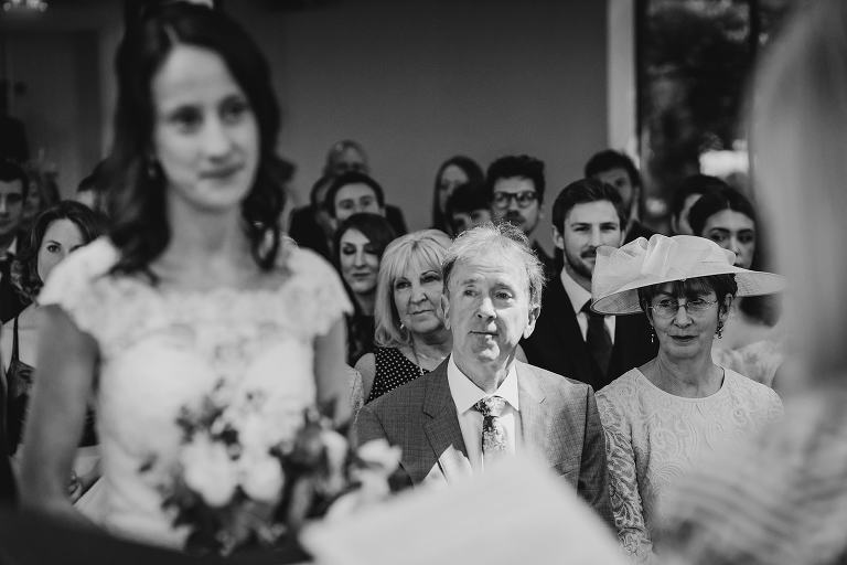 Mum and Dad look on as daughter gets married
