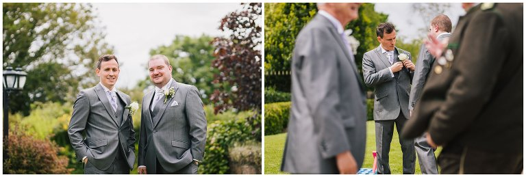 grooms getting ready wedding photographer south wales