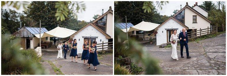 ceridwen centre wedding bride and bridesmaids