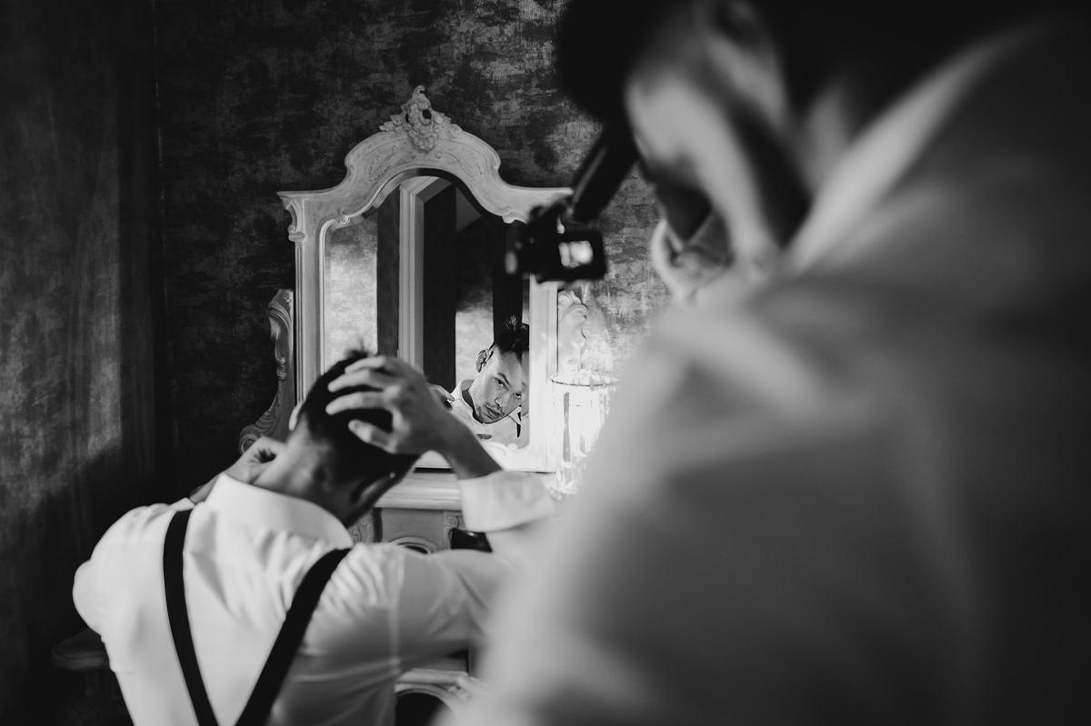 groom prep photography fairyhill
