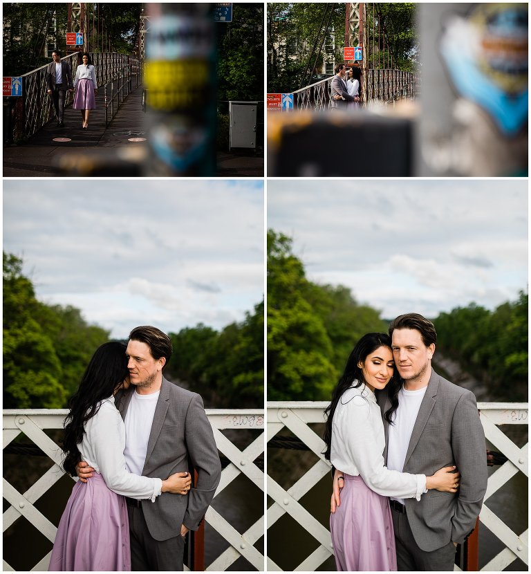 engagement photoshoot in wapping wharf in bristol