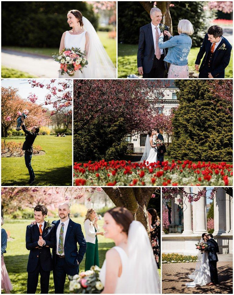 wedding photography in Alexandra Gardens in Cardiff